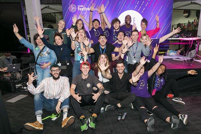 mozfest participants celebrate