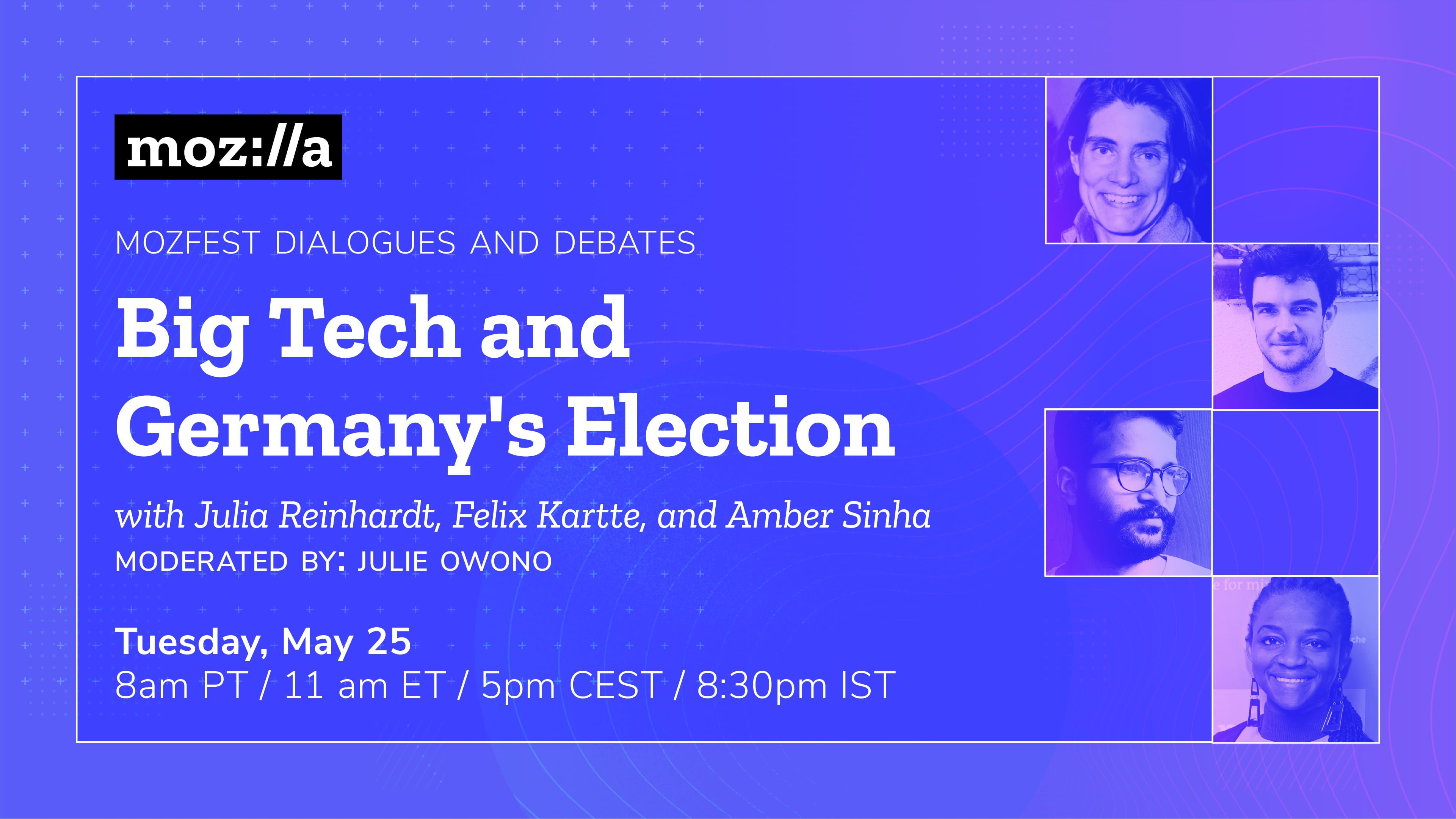 Big Tech and Germany's Election — a May 25th virtual panel