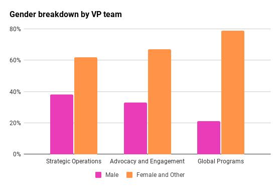 Gender Breakdown by VP Team