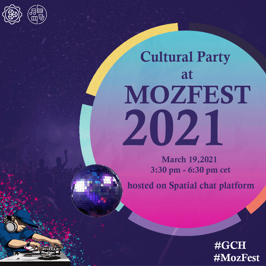 Invitation to Culture Party at MozFest 2021