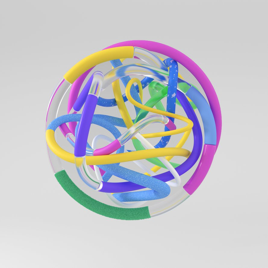 3D abstract colorful ball