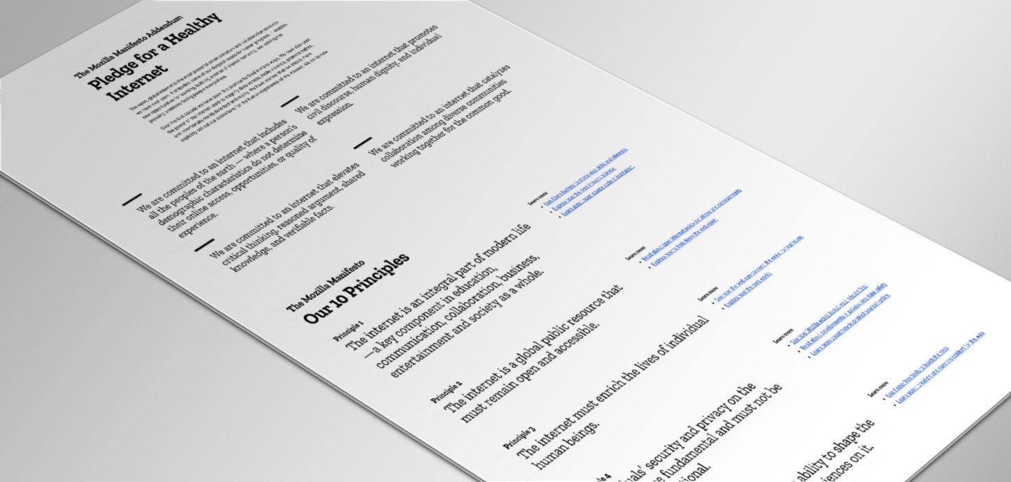 Picture of the Mozilla Manifesto