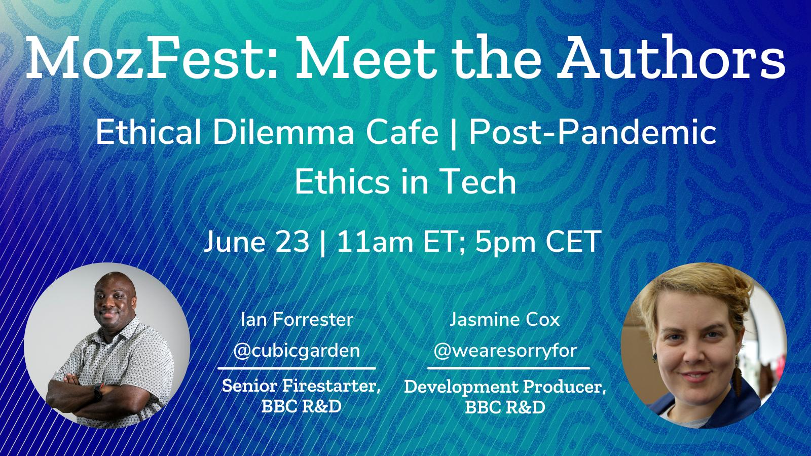 Meet the Authors- Ethical Dilemma Cafe