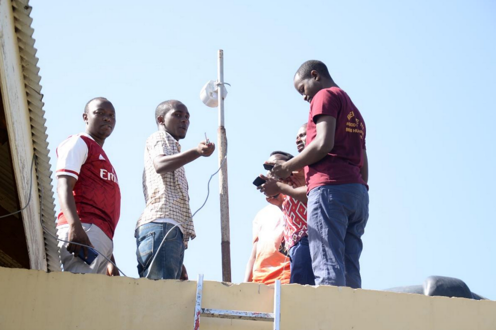 Sim Card-based Router installation at one of the community network cooperative society in Tanzania