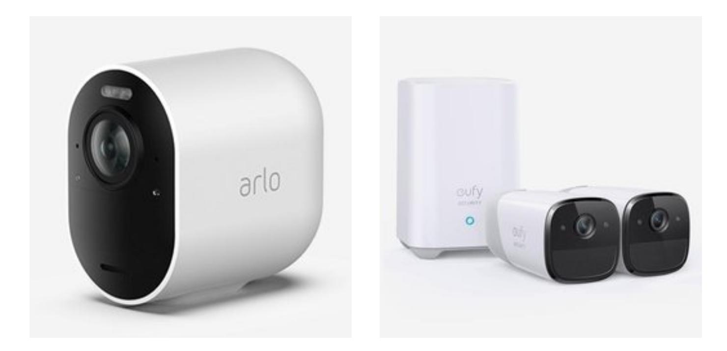 Eufy Security and Arlo Security cameras