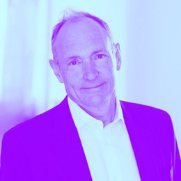 A photograph of Tim Berners-Lee