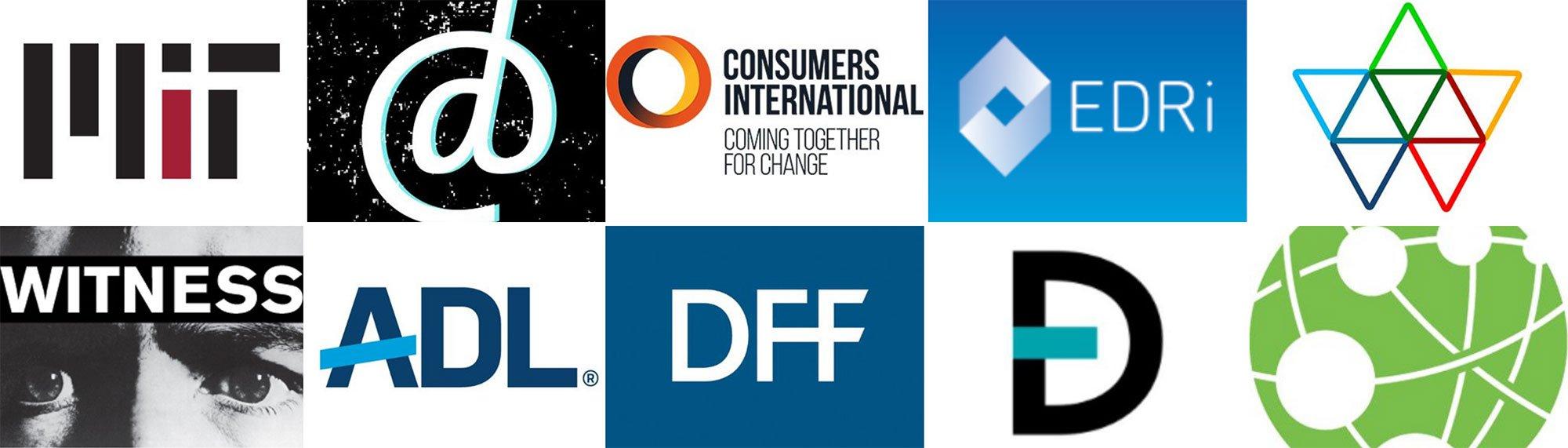 Grid of host org logos