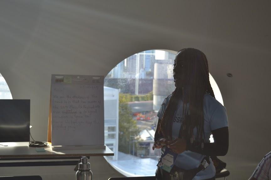 Uffa Modey of Community Leaders for Internet Health at Mozilla Festival 2019