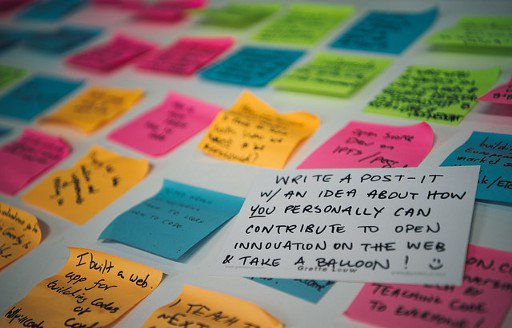 Post-it from the process